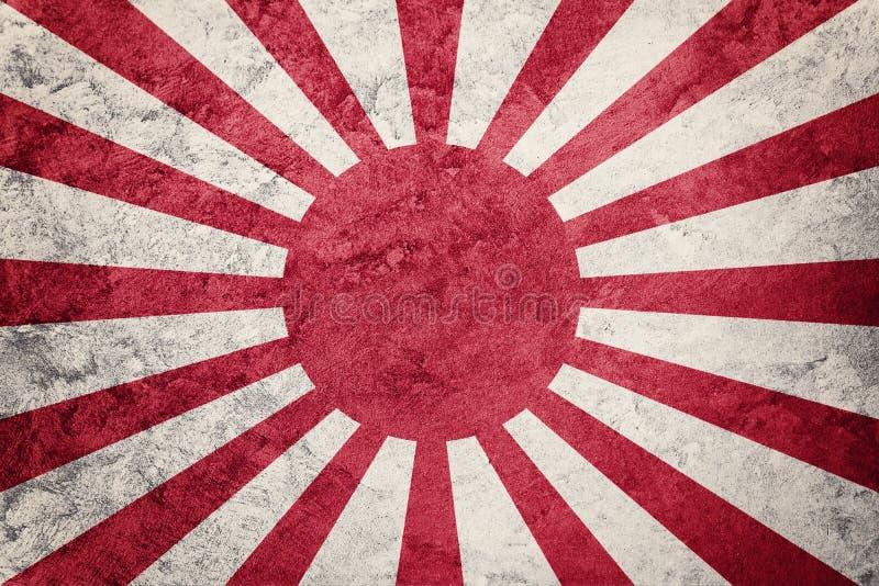Grunge het Toenemen de vlag van Zonjapan De vlag van Japan met grungetextuur royalty-vrije stock foto