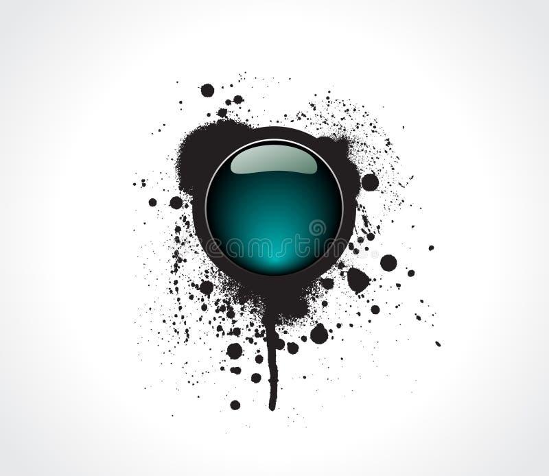 Grunge & Hi-tech Vector Button. Stock Images