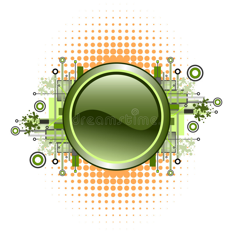 Download Grunge & Hi-tech Vector Button. Stock Vector - Image: 5100558