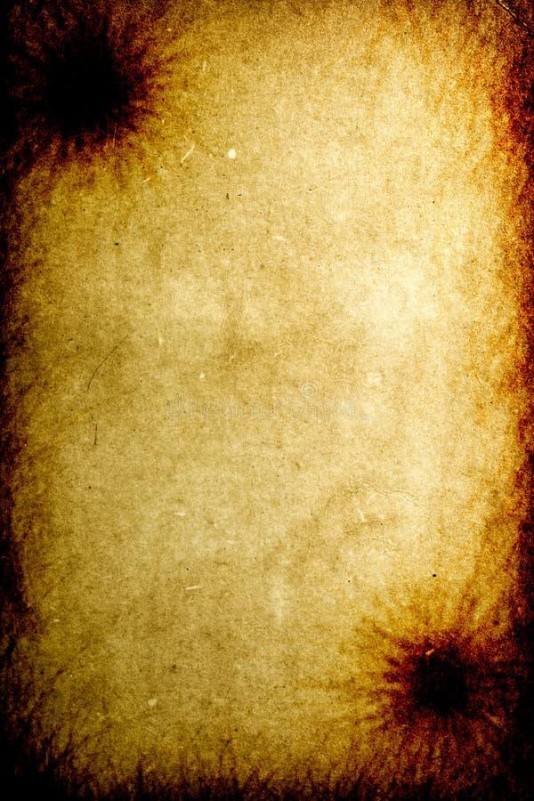 Alter Gebrannter Papierbeschaffenheitshintergrund Stockfotografie