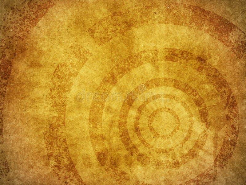 Grunge Hintergrund-Beschaffenheit mit konzentrischen Kreisen lizenzfreie abbildung
