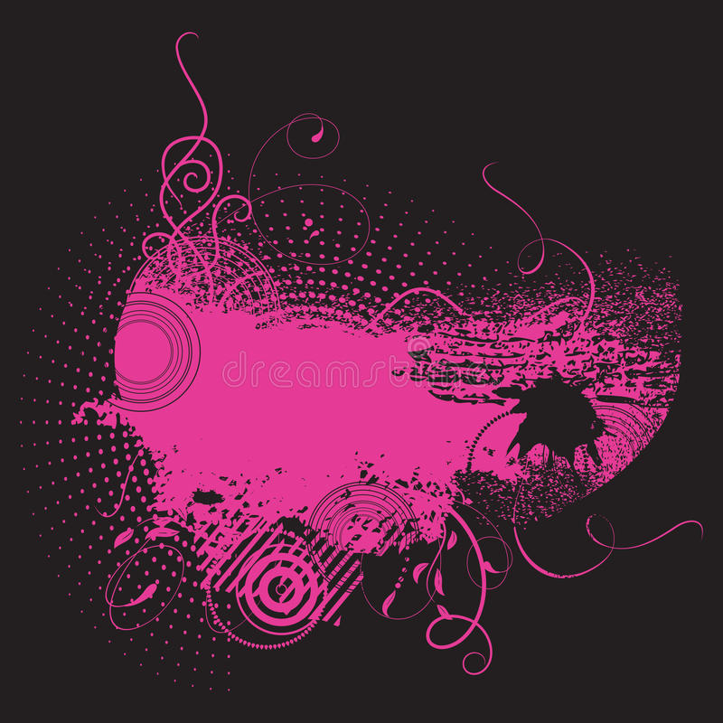 Grunge Hintergrund in der rosafarbenen Farbe lizenzfreie abbildung