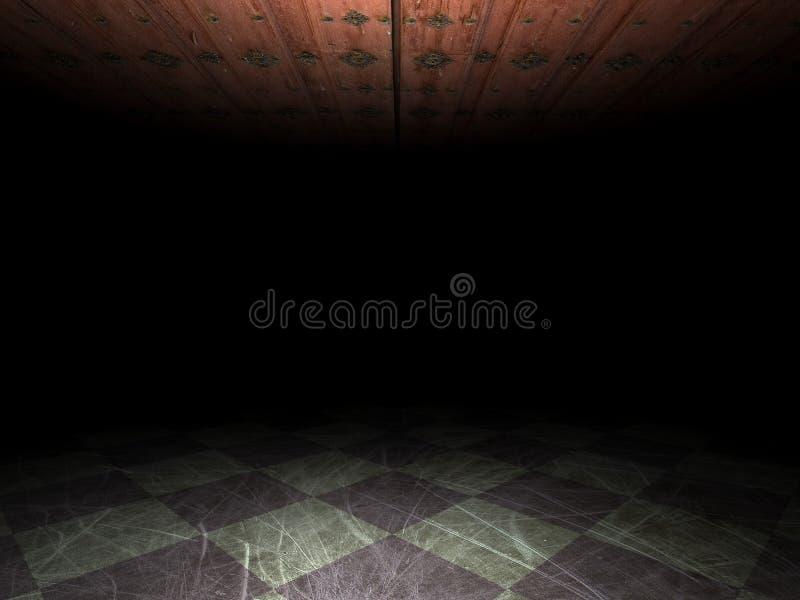 Grunge Hintergrund des leeren Raumes lizenzfreie abbildung