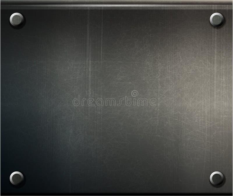 Grunge Hintergrund Metallplatten stock abbildung