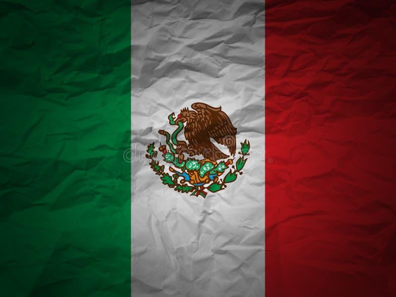 Grunge Hintergrund Mexiko-Markierungsfahne lizenzfreie abbildung