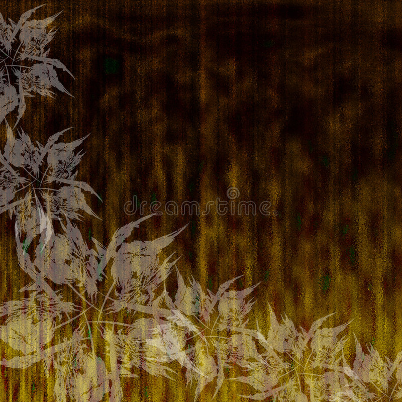 Grunge Hintergrund mit Blumen stock abbildung