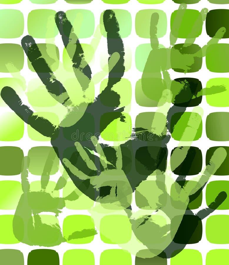 Grunge Hintergrund mit Handdrucken. eps10 lizenzfreie abbildung