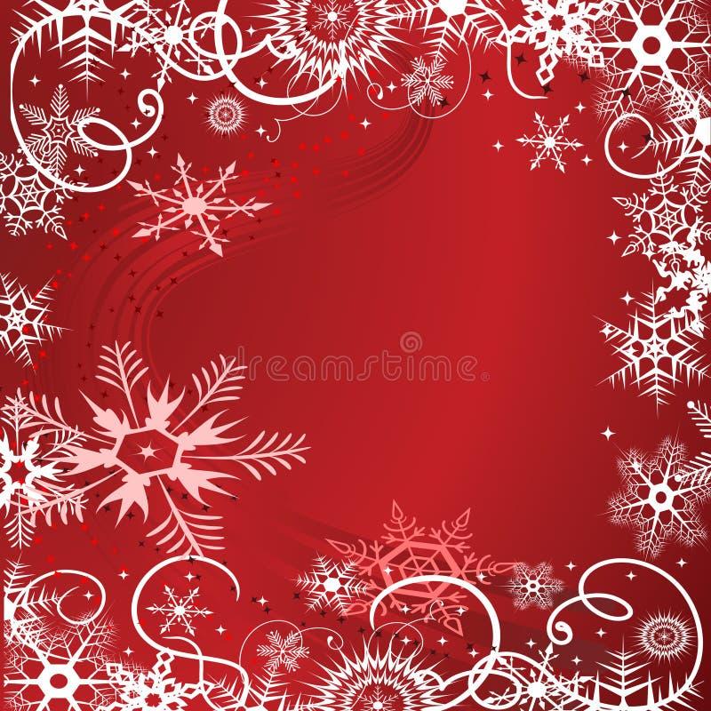 Grunge Hintergrund mit Schneeflocken lizenzfreie abbildung