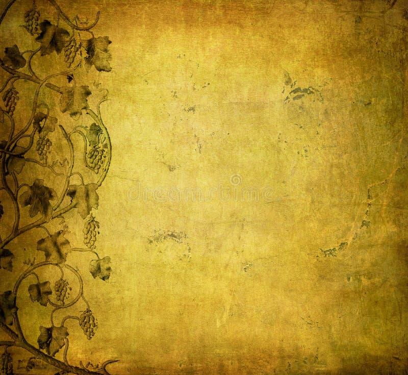 Grunge Hintergrund mit Traube vektor abbildung