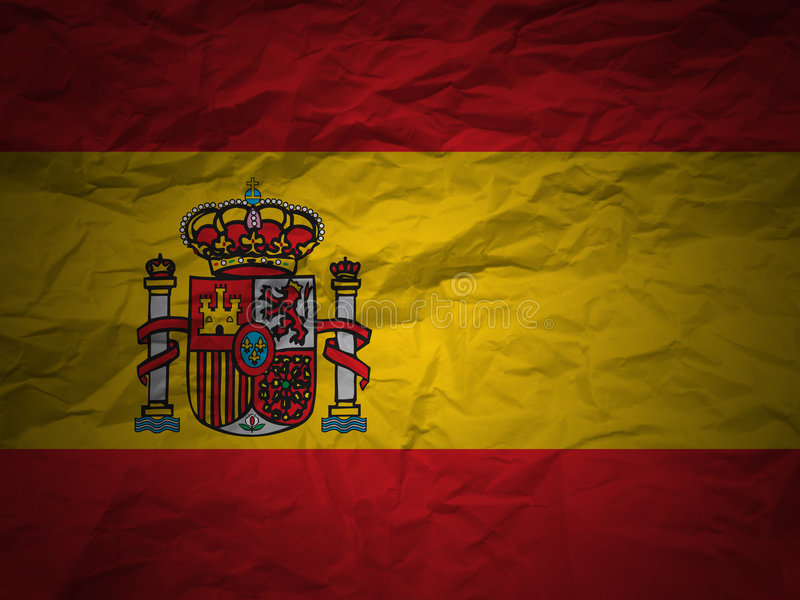 Grunge Hintergrund Spanien-Markierungsfahne