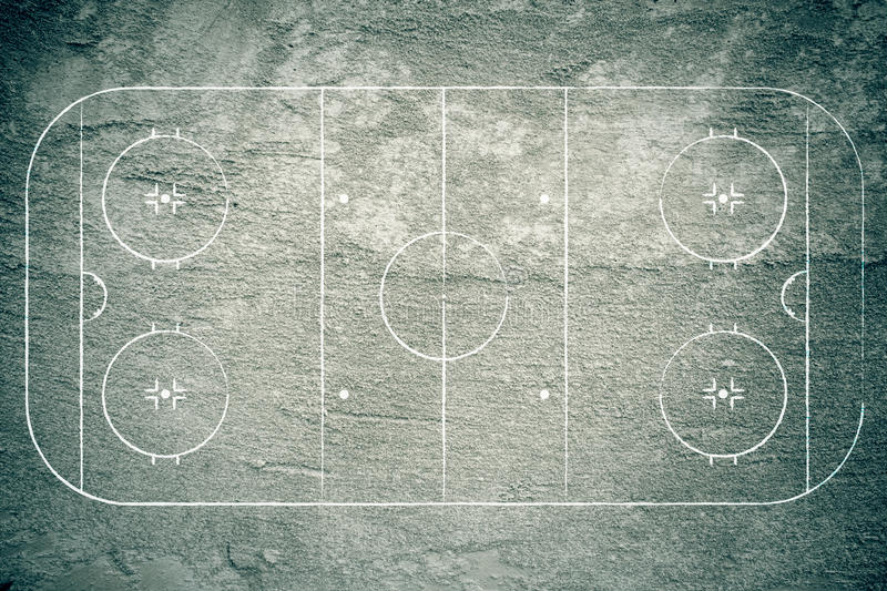 Grunge Hockey Rink stock illustration