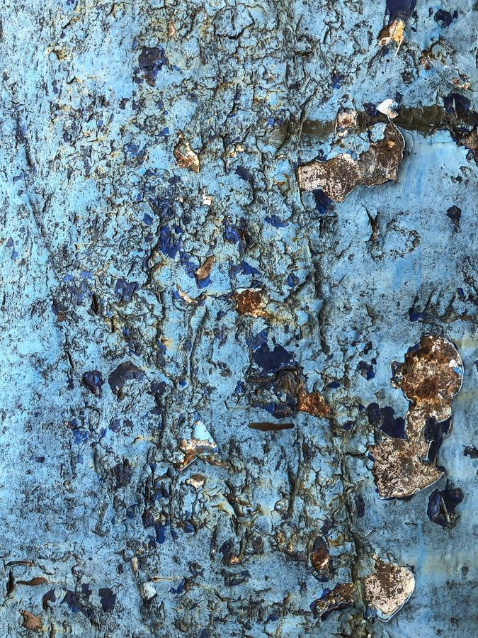 Grunge i pękający błękitny tło zdjęcie royalty free