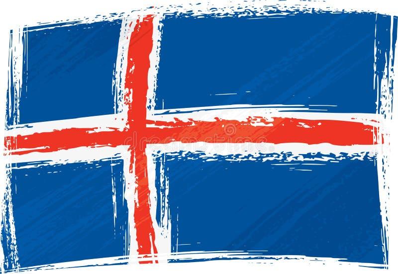 Grunge Iceland flag. Iceland national flag created in grunge style royalty free illustration