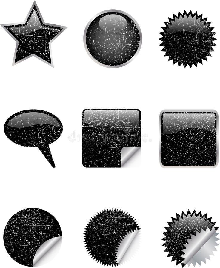 grunge ikony ilustracja wektor