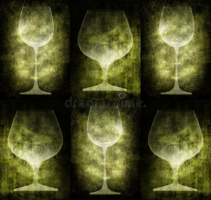 Grunge illustration with glasses royalty free illustration
