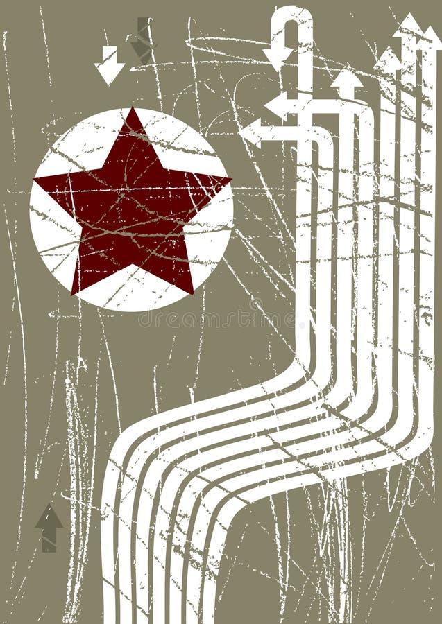 grunge ilustracyjny czerwieni gwiazdy wektor ilustracja wektor