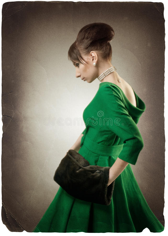 Download Grunge Image Of A Beautiful Retro Styled Woman Stock Photos - Image: 17958953