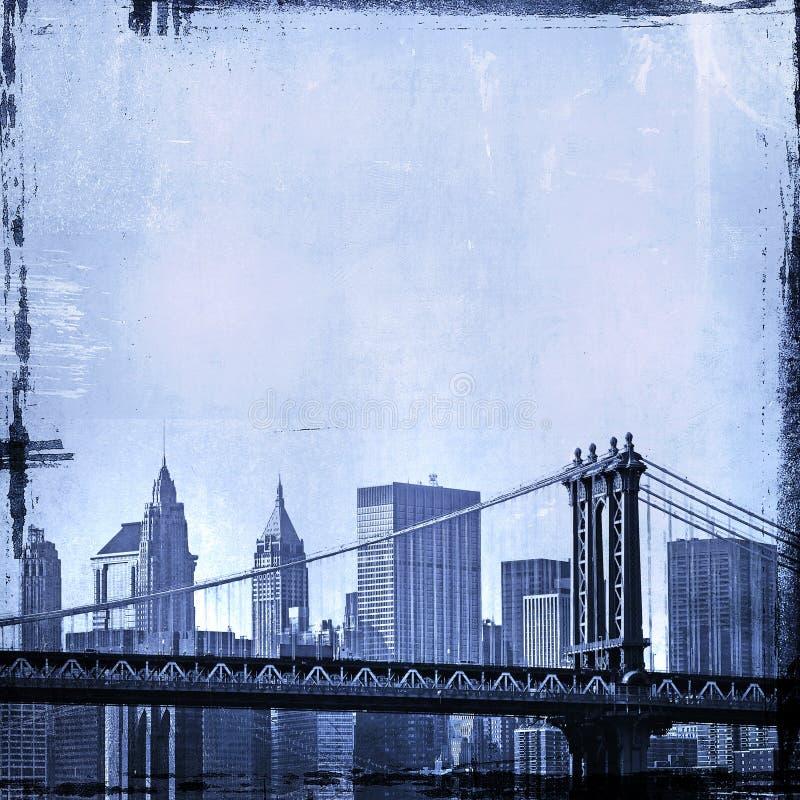 Download Grunge Image Of New York Skyline Stock Illustration - Image: 8270522