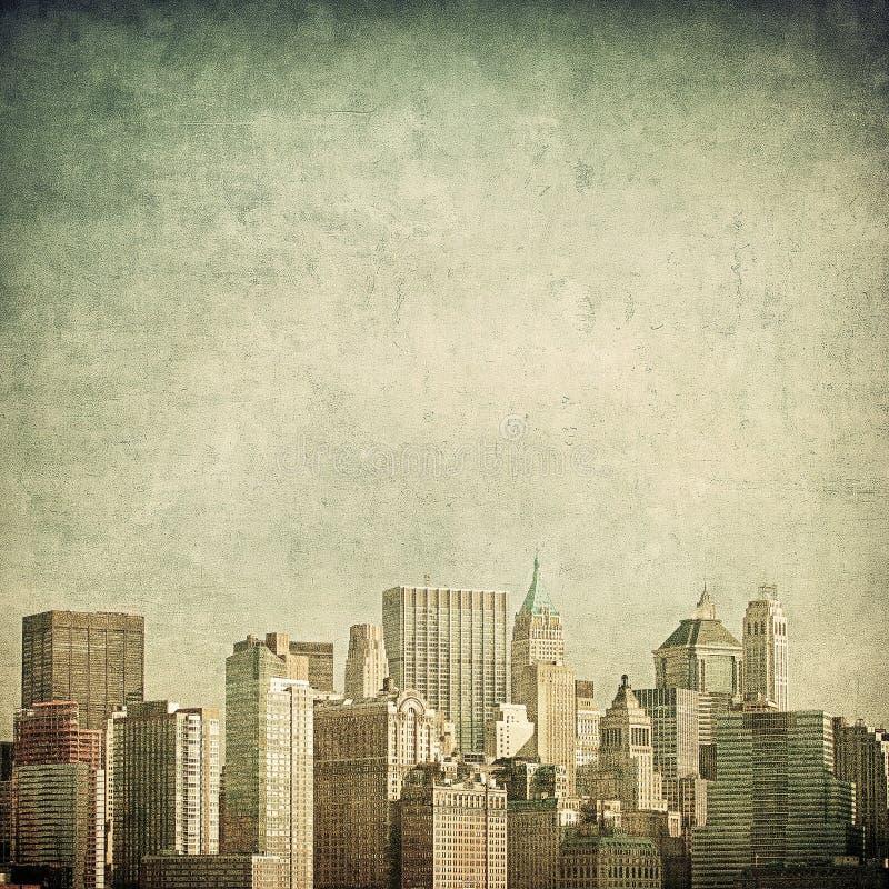 Grunge image of new york skyline royalty free illustration