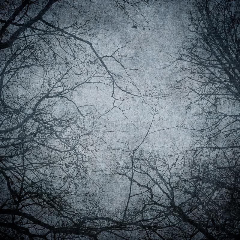 Free Grunge Image Of Tree Silhouettes. Perfect Halloween Background Royalty Free Stock Images - 160435409