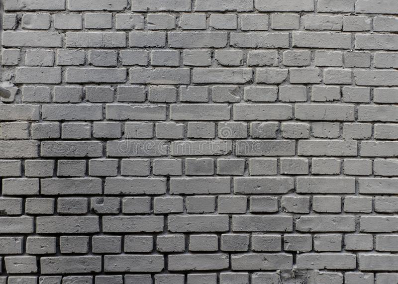 Grunge industrial grey painted brick wall background in Kyiv, Ukraine. stock images