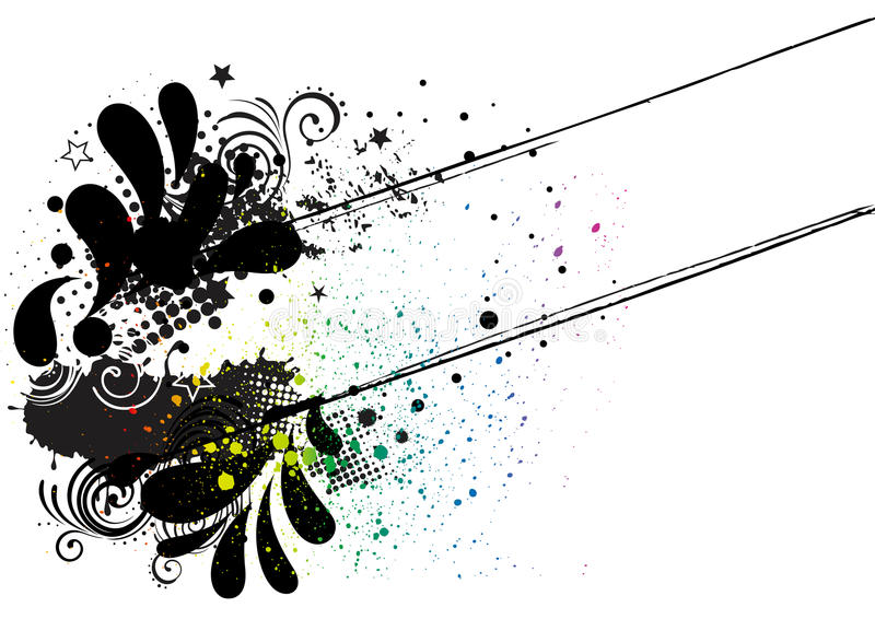 Download Grunge ink background stock vector. Image of paint, print - 15612616
