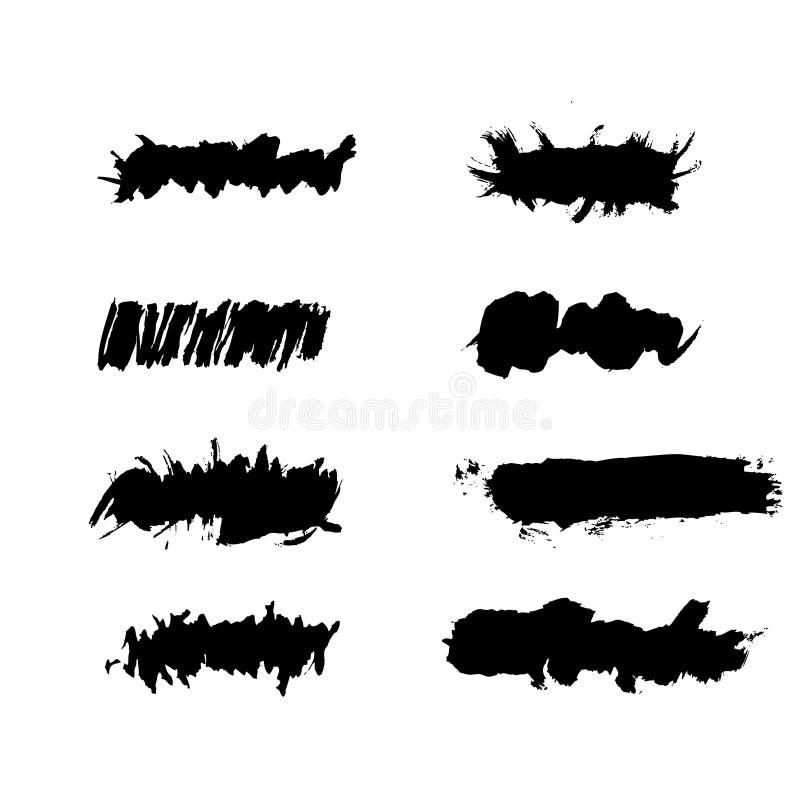 Grunge ink splat brush royalty free illustration