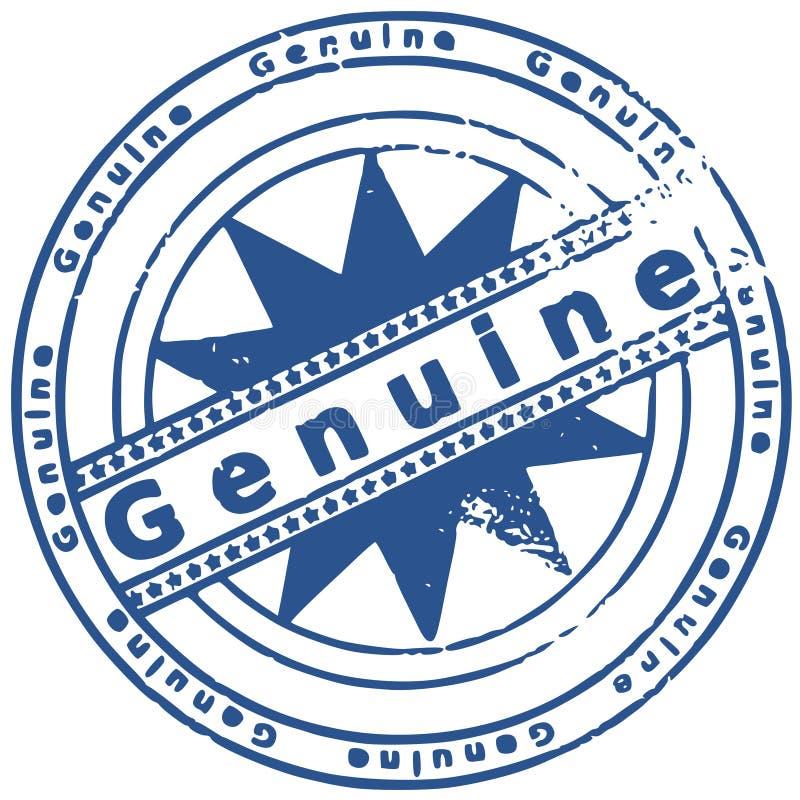 Grunge round rubber ink stamp GENUINE stock illustration