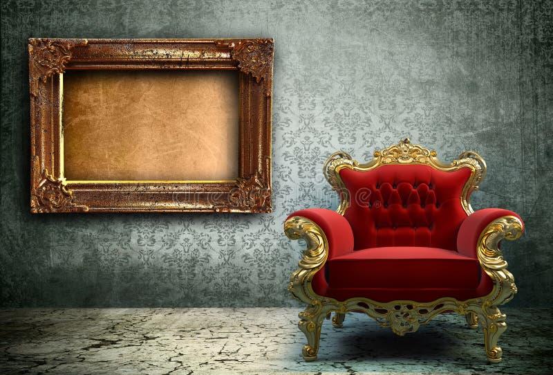 Grunge interior stock illustration