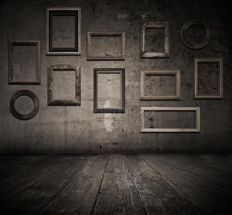 Download Grunge Interior With Frames Stock Photo - Image: 13380648