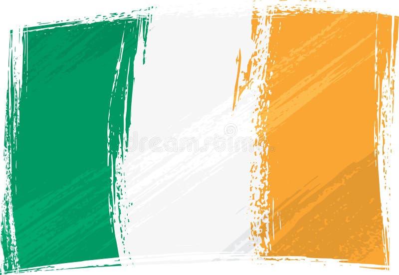 Grunge Ireland flag vector illustration