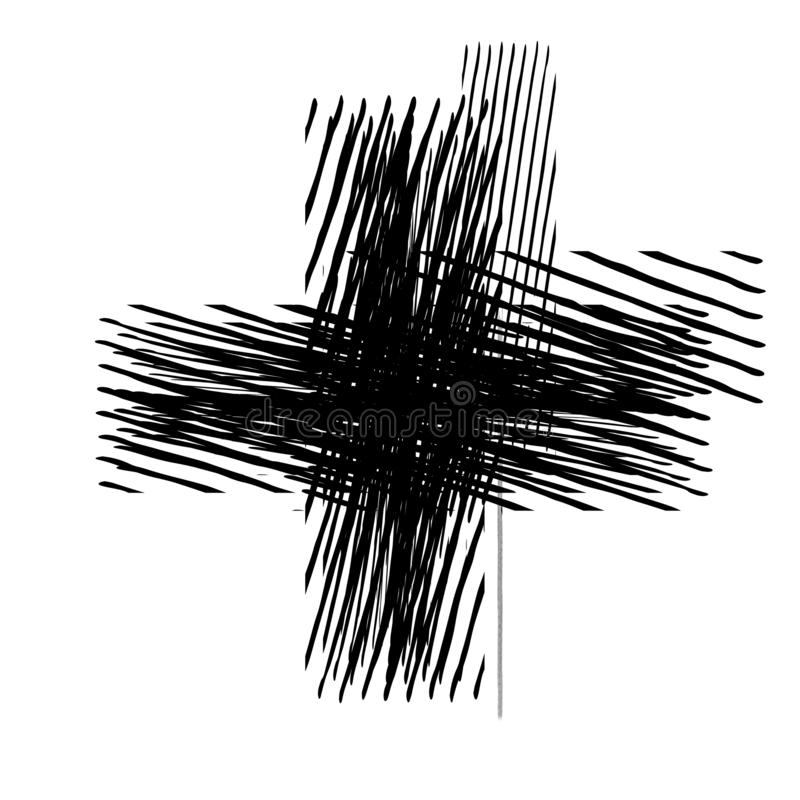 Grunge Isolated Cross vector illustration
