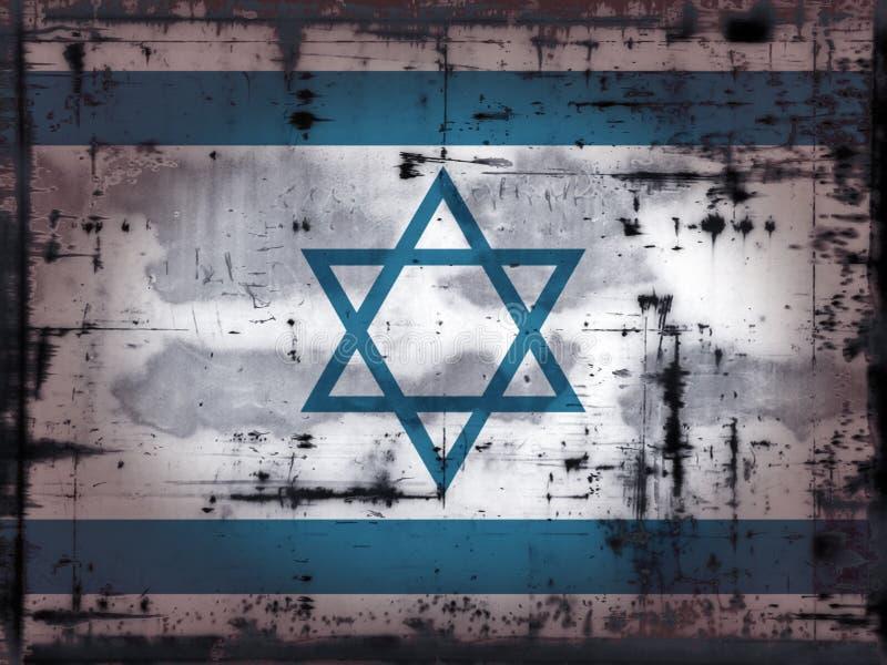 Grunge israel stock illustrationer