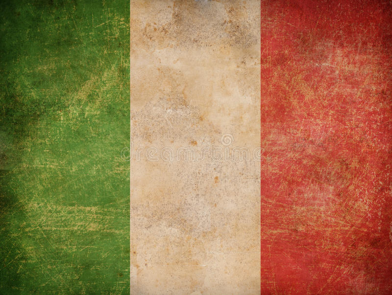 Grunge italian flag background royalty free stock photography
