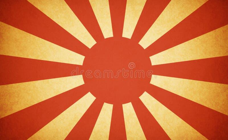 Grunge Japanese war flag royalty free stock photos