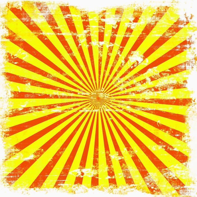 grunge jaskrawy sunburst ilustracji