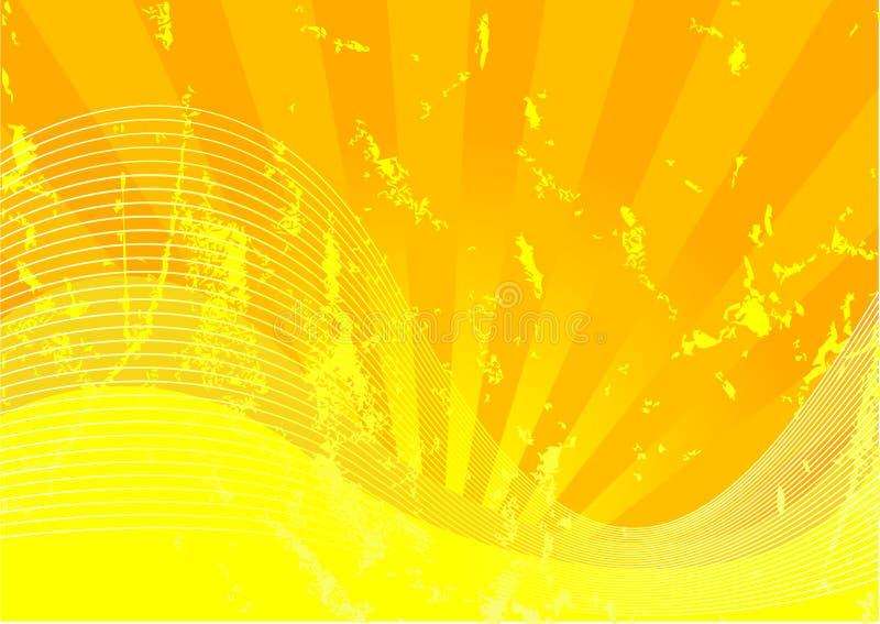 Grunge jaune illustration libre de droits