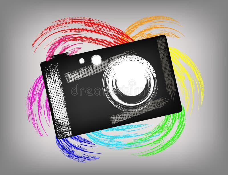 Grunge kamera ilustracji