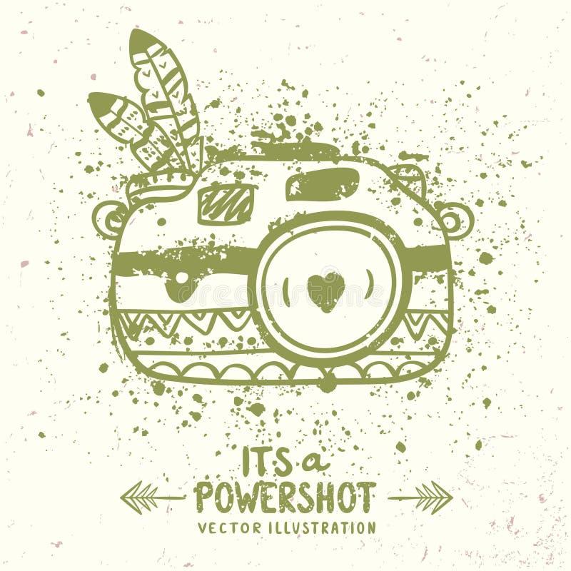 Grunge kamera royalty ilustracja