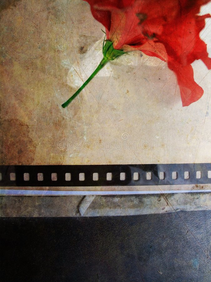 Grunge Karte mit Blume no.4 lizenzfreie abbildung