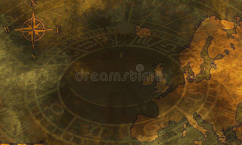 Grunge Karte von Europa vektor abbildung