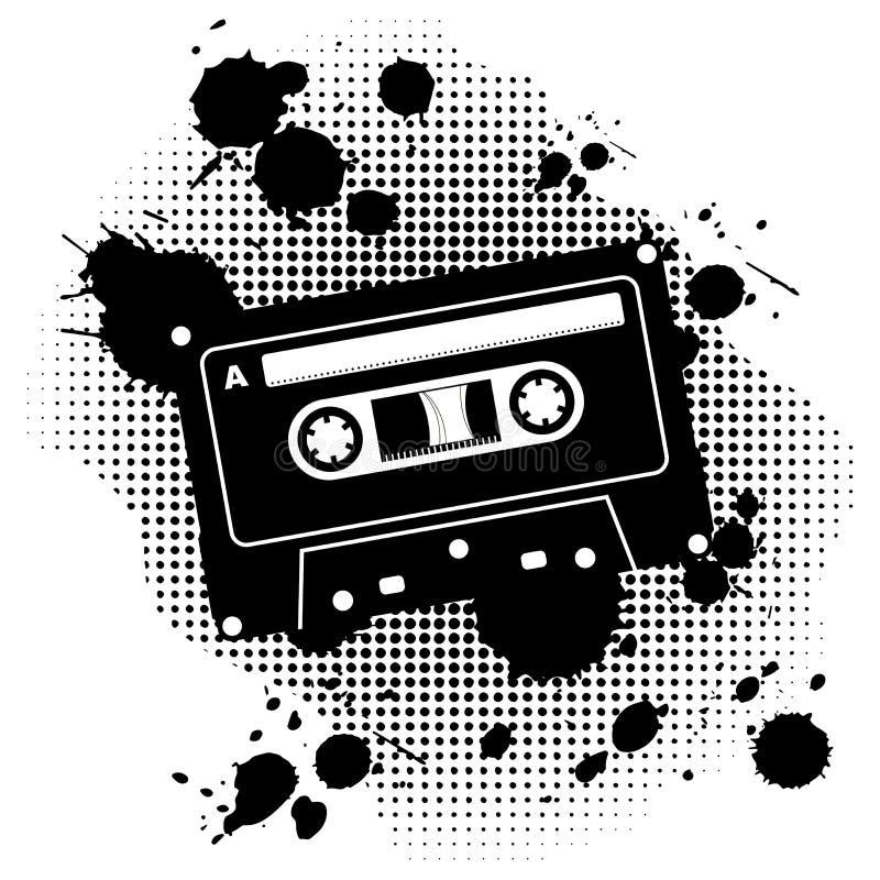 Grunge Kassette lizenzfreie abbildung