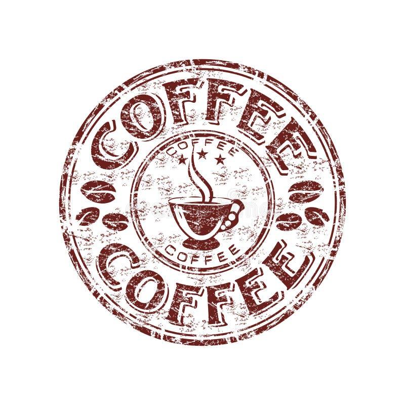 grunge kawowa pieczątka ilustracja wektor