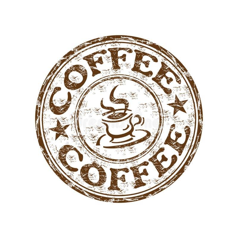 grunge kawowa pieczątka royalty ilustracja