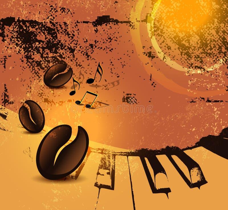 Grunge kawy tło ilustracja wektor
