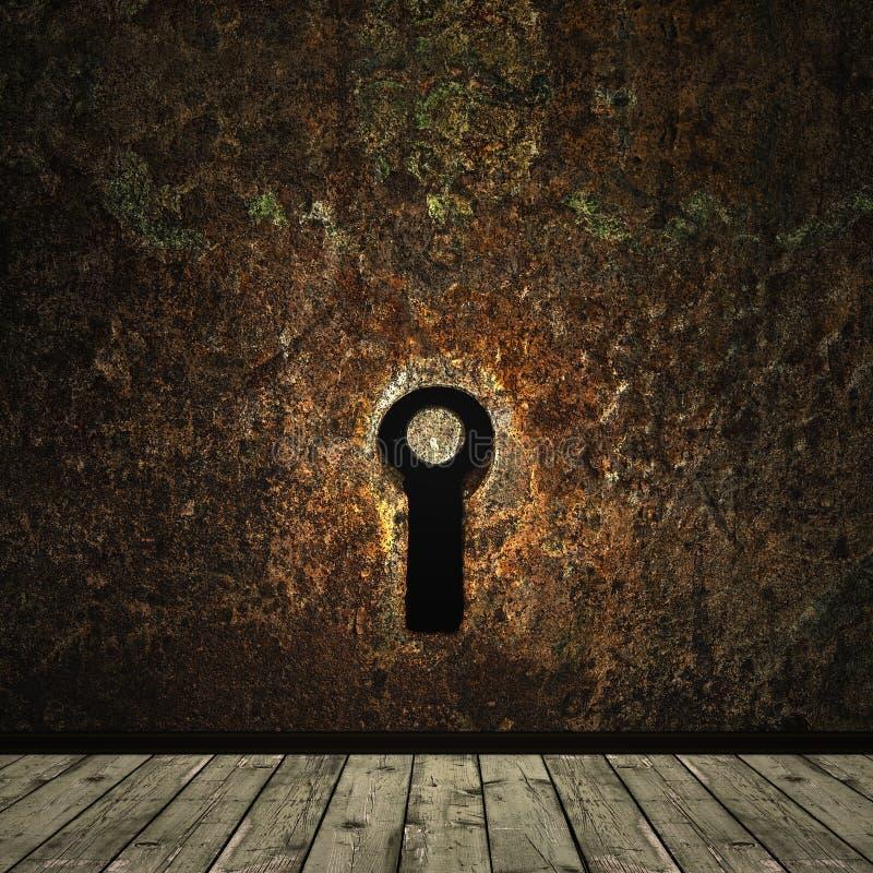 grunge keyhole zdjęcie royalty free