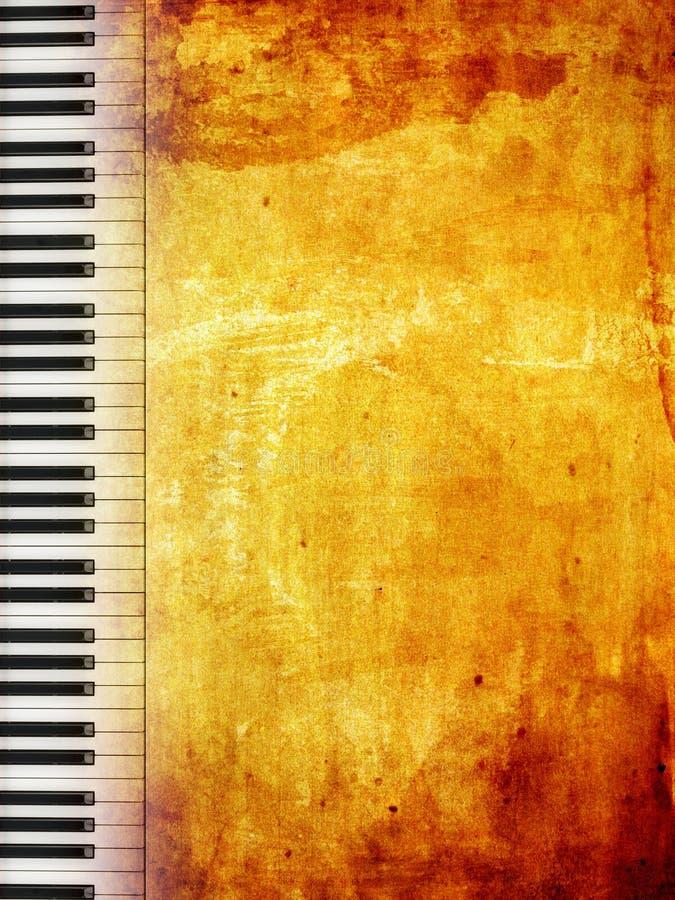 Grunge Klavier vektor abbildung