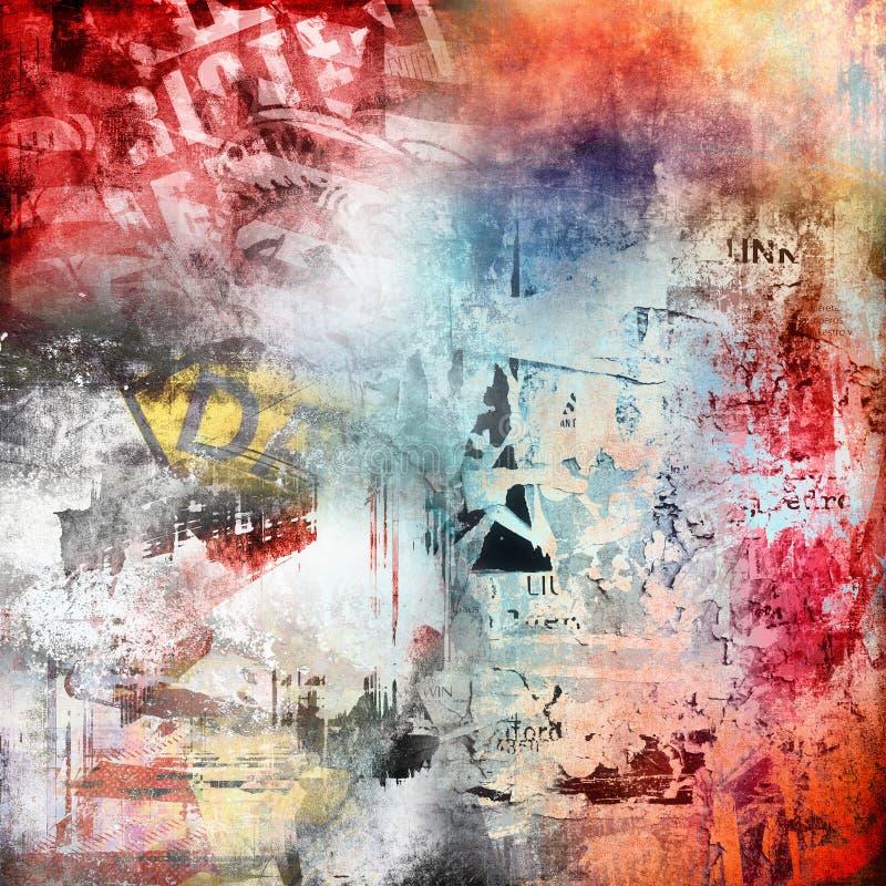 Grunge kleurrijke achtergrond stock foto's