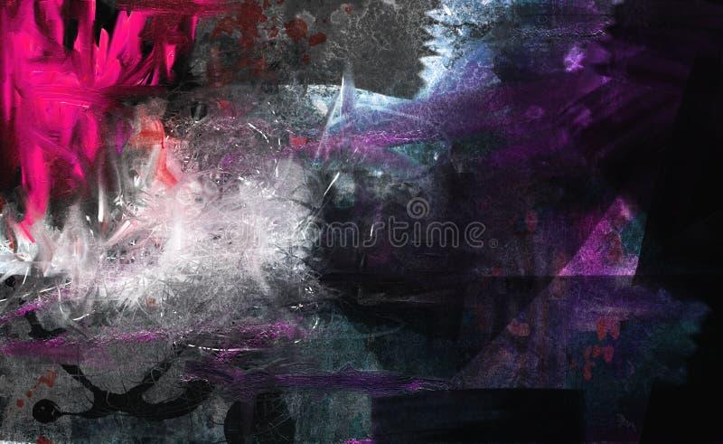 Grunge kolaż, akwarela styl ilustracji