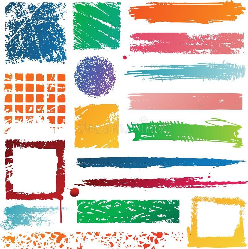 Grunge kolorowa tekstura royalty ilustracja